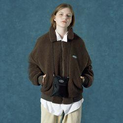 [예약판매 12/3 발송] [앤커버] Rubber fleece jacket-brown