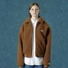 Rubber fleece jacket-camel