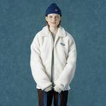 [예약판매 11/15 발송] [앤커버] Rubber fleece jacket-ivory