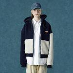 [예약판매 12/3 발송] Rubber fleece hoodie zipup-navy