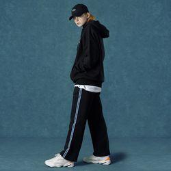 [앤커버] track pants-black