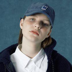[앤커버] Corduroy cap-dark blue