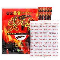 참숯 온열 핫팩 100g 50개(5set)