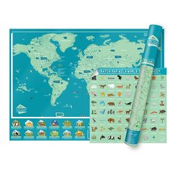 [럭키스] 영국 정품 스크래치 맵 세계지도 와일드월드