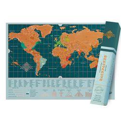 [럭키스] 영국 정품 스크래치 맵 세계지도 백팩커