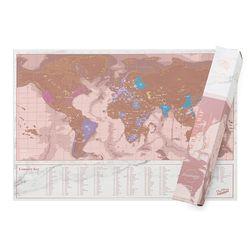 [럭키스] 영국 정품 스크래치 맵 세계지도 로즈 골드 (소형)