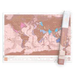 [럭키스] 영국 정품 스크래치 맵 세계지도 로즈 골드