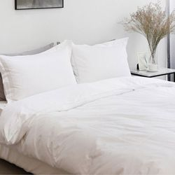 엘레나 60수 호텔 자수 이불커버 WHITE(Q SET)