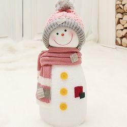 길쭉이 털모자 눈사람(45cm핑크)