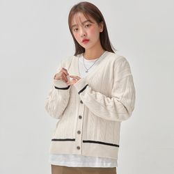 manner twist cardigan