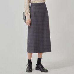 story check midi skirt (s m)