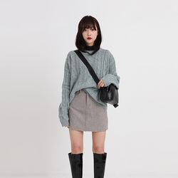 twist round wool knit (4colors)