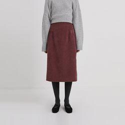thin corduroy slit skirt (4colors)