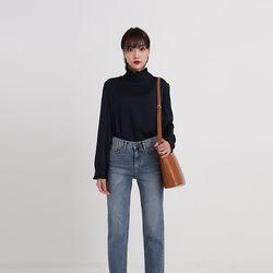 shy half neck blouse (3colors)