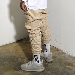 Shirring Jogger Pants (Beige)