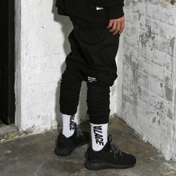 Shirring Jogger Pants (Black)