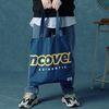 [앤커버] Signature logo eco bag-dark blue
