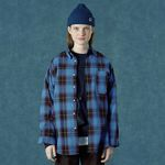 Barcode shirt-blue