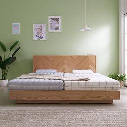 라노체 유럽라텍스 트리샤 평상형 침대 로얄킹