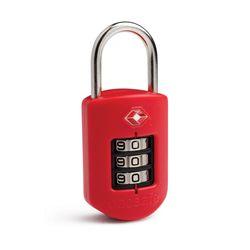 팩세이프 TSA COMBO PLUS LOCK 자물쇠 PROSAFE 1000 레드