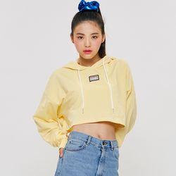 CROP HOOD T-SHIRT Yellow