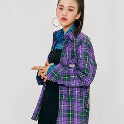 18F CHECK SHIRT Purple
