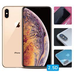 뷰에스피 아이폰XS 2.5D 강화유리+유광후면+렌즈필름 각1매