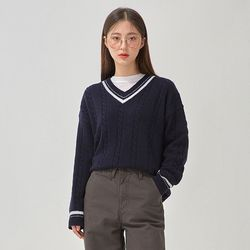 butter v-neck wool knit