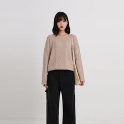 muffin twist round knit (7colors)