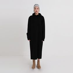 knit hood one-piece (2colors)