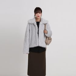 bebe fur jacket (2colors)