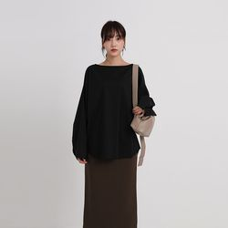 monk wide neck blouse (3colors)