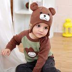 브라운 곰돌이 유아모자(6개월-6세) 203678