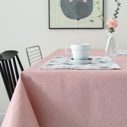 심플방수코팅테이블보-핑크(2인용)
