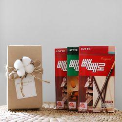 목화 네츄럴 선물 SET(막대과자3개)