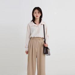 open collar sliky shirt (3colors)
