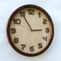 모디 레그노 우드 입체숫자 원목벽시계