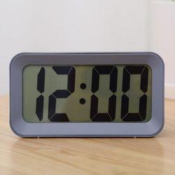 모디 그레이 LCD 디지털 알람시계