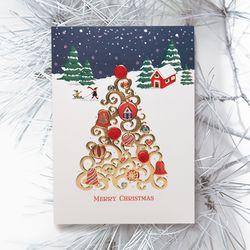 FS1030-5 크리스마스카드 트리 산타 성탄절 루돌프