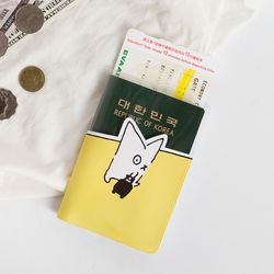 SNOWCAT PASSPORT COVER - YELLOW