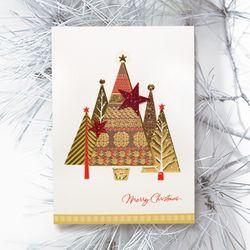 FS1030-6 크리스마스카드 트리 산타 성탄절 루돌프