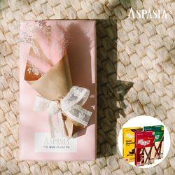 11월의고백 미니꽃다발(핑크 라그라스)&막대과자-11.11데이선물