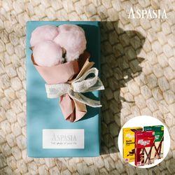11월의고백 미니꽃다발(핑크 목화)&막대과자-11.11데이선물