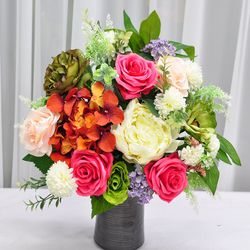 로즈팜팜 산소 성묘 꽃 다발 조화 실크플라워