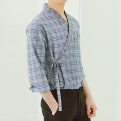 서리나래 소울체크 남성 셔츠저고리