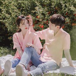 해나 반팔 저고리[핑크] 남녀공용 (3 SIZE)