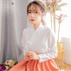 생활한복세트다흰 저고리 + 다미혜 허리치마