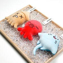 모찌모찌 씨푸드 3종 - 문어 오징어 가오리  핫팩인형손난로