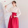 생활한복세트일월화 저고리 + 꽃빛 허리치마