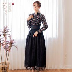 생활한복세트 구월애 저고리 + 청아 허리치마 + 물꽃 허리치마